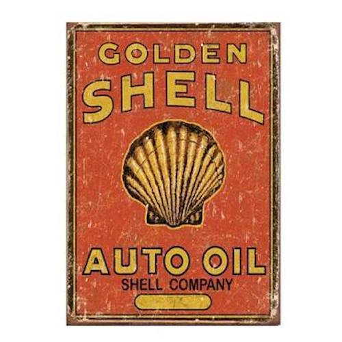 Novelty Metal Sign - Historic Shell Auto Oil 31cm x 40cm