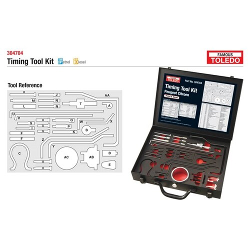 TOLEDO  TIMING TOOL KIT SUITS VARIOUS MODELS - SEE LIST    304704 304704