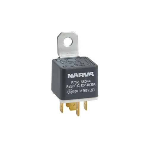 Narva  12V 40A/30A Change-Over 5 Pin Relay with Resistor (1)    68044BL