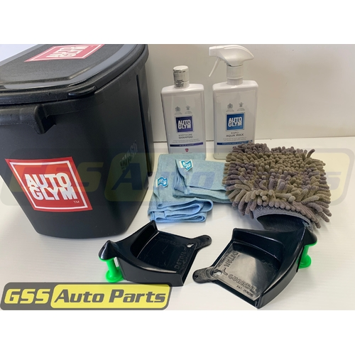 Autoglym Bucket Wash Shampoo Aqua Wax & Hose Guides - AGKIT3BLACK