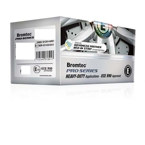 Bremtec REAR ECE R90 Approved Heavy-Duty Brake Pads BT20030PRO ()