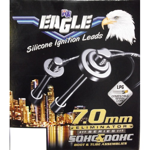 Eagle Black 7mm Eliminator Ignition Leads Set  E76170  (Spark Plug Leads)