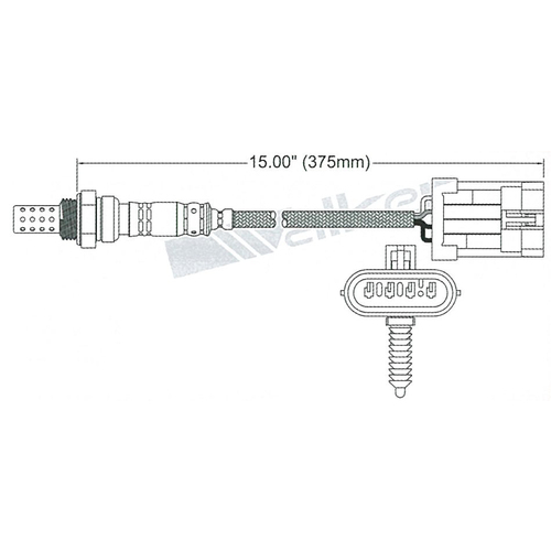 Delphi 02 Oxygen Sensor (EGO-012) 4 wire, 350mm long