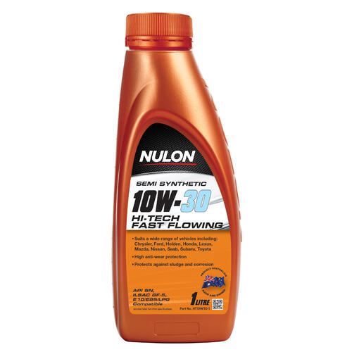 Nulon Hi-Tech Fast Flow Engine Oil Semi-Synthetic 1 litre (HT10W30-1)