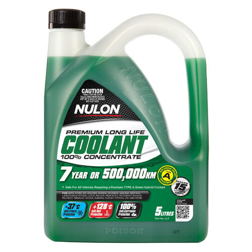 Nulon Green Long Life Concentrated Coolant  5 litre Bottle (LL5)