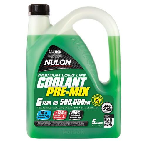 Nulon Green Long Life Top-Up Coolant  5 litre Bottle (LLTU5)
