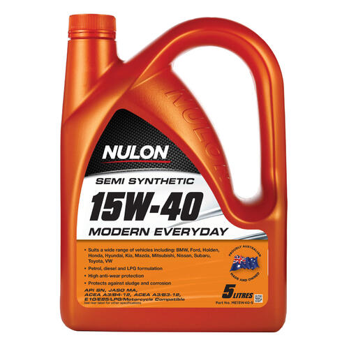 Nulon Semi Synthetic 15W-40 Modern Everyday Engine Oil - 5 Litre
