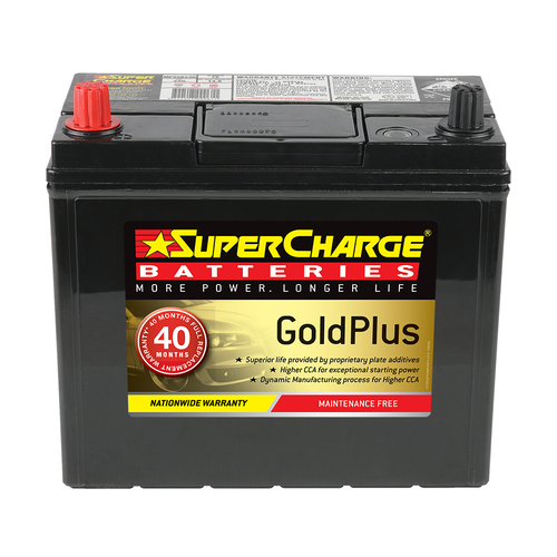 Supercharge Gold Plus 12V Automotive Battery 490CCA (MF55B24R)