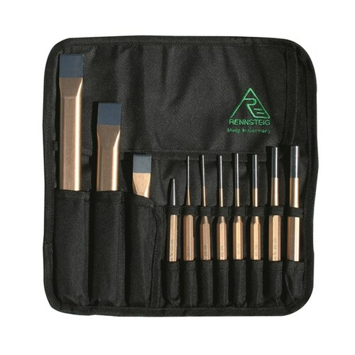 Rennsteig Chisel, Pin & Punch Tool Roll 11Pc (RCP11)