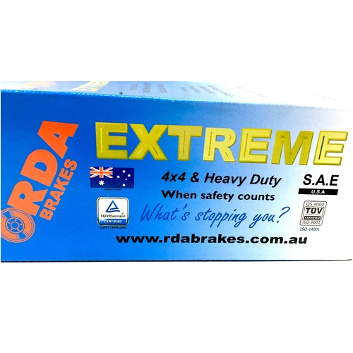 Front RDA Extreme Heavy Duty Brake Pads RDX1331SM (DB1331) with Standard Calipers