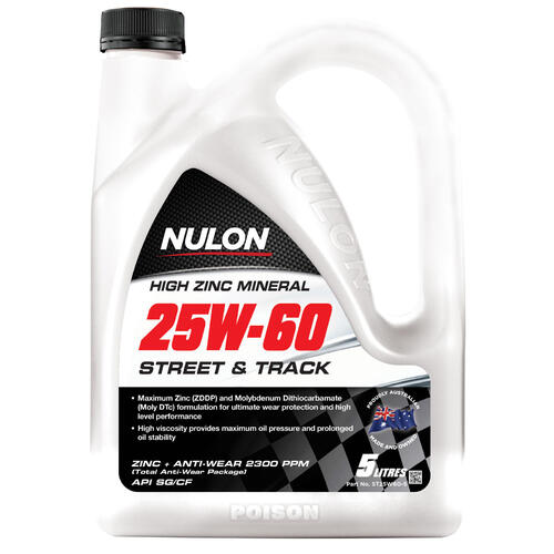 Nulon Street And Track Engine Oil 5 litre ST25W60-5