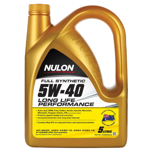 Nulon Full Synthetic 5W-40 Long Life Engine Oil 5 Litre