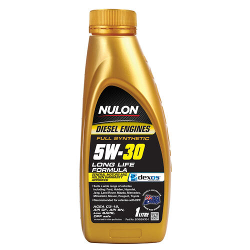Nulon Full Synthetic 5W-30 Diesel Formula Long Life Engine Oil 1 Litre