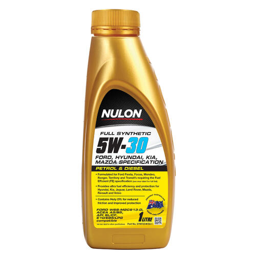 Nulon Full Synthetic 5W-30 Fuel Efficient Engine Oil 1 Litre