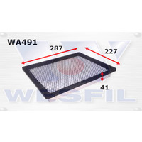 Wesfil/Cooper Engine Air Filter equiv to A491 (WA491)