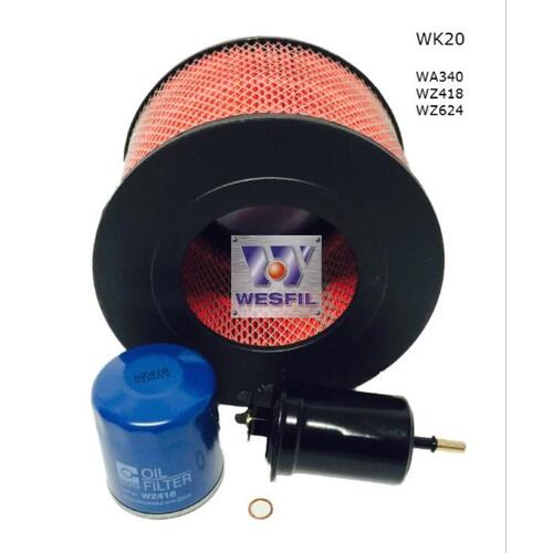 Wesfil  Filter Service Kit    WK20   suits Toyota Landcruiser